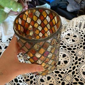 glass pattern pencil holder